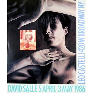 David Salle 'At Castelli's-1986' Offset Lithograph Poster, 28 x 25.5 inches