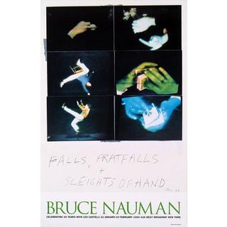 Bruce Nauman 'Falls, Pratfalls + Sleights of Hand' Poster, 22 x 15.5 inches