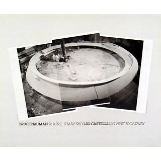 Bruce Nauman 'Smoke Rings' 1980 Offset Lithograph Wall Art, 18 x 22 inches