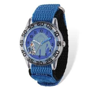 Disney Frozen Olaf/Monster Acrylic Blue Nylon Time Teacher Watch