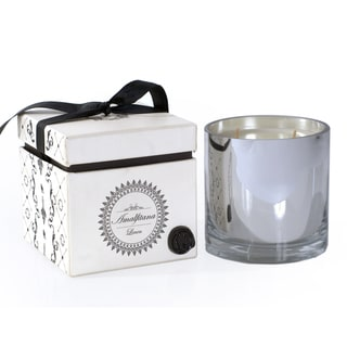 Amalfitana Mercery Glass and Linen Wax Candle With Gift Box