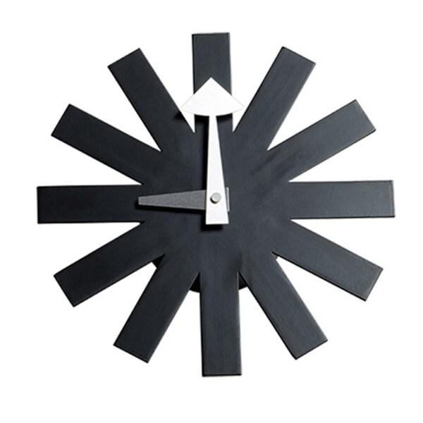 MLF Asterisk Wood Clock