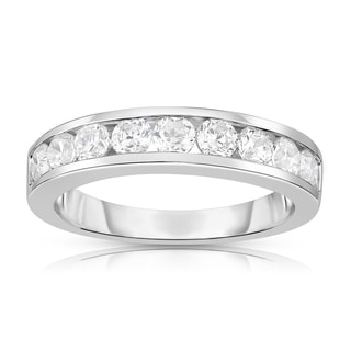 Noray Designs 14k White Gold 7/8ct TDW White Diamond Channel Wedding Band - White G-H