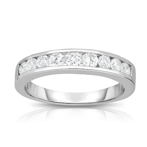 Noray Designs 14K White Gold Diamond (1/2 ct.) Channel Wedding Band - White G-H - White G-H