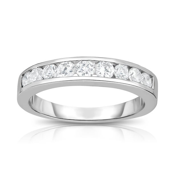 Noray Designs 14K White Gold Diamond (1/2 ct.) Channel Wedding Band - White G-H