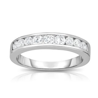 Noray Designs 14K White Gold Diamond (1/2 ct.) Channel Wedding Band
