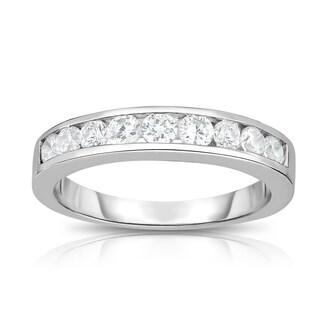 Noray Designs 14K White Gold Diamond (1/2 ct.) Channel Wedding Band - White G-H