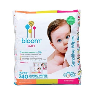 Bloom Baby Sensitive Baby Wipes (240 Count)