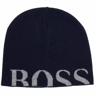 Hugo Boss Knitties Wool-blend Logo Beanie Hat