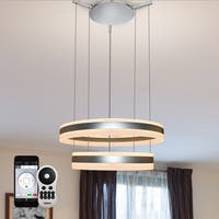 VONN Lighting VHC36520AL Europa 24-inch WiFi-Enabled Tunable White LED Chandelier, VISION Series