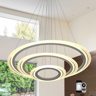 VONN Lighting Thebe VHC36630AL WiFi-enabled Tunable White Color-changing LED 40-inch 3-tier Chandelier Vision by VONN Series