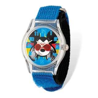 Disney Kids Mickey Mouse Acrylic Case Blue Nylon Tween Watch