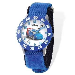 Disney Cars Raoul Blue Hook and Loop Time Teacher Watch