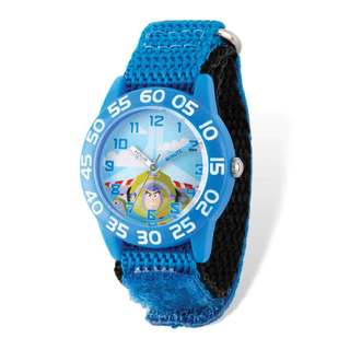 Disney Toy Story Buzz Acrylic Blue Band Time Teacher Watch