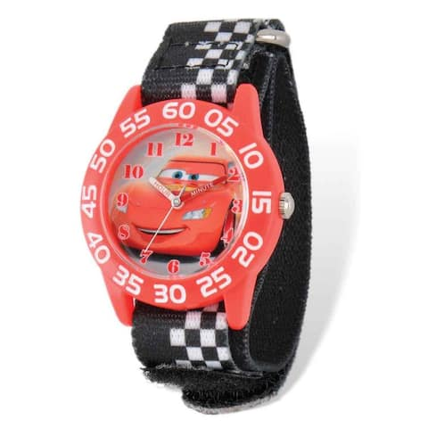 Disney Lightning McQueen Acrylic Case Hook and Loop Time Teacher Watch