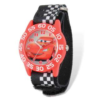 Disney Lightning McQueen Acrylic Case Hook and Loop Time Teacher Watch