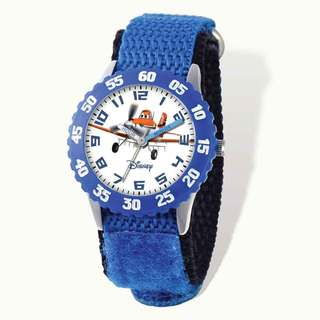 Disney Planes Dusty Blue Hook and Loop Time Teacher Watch
