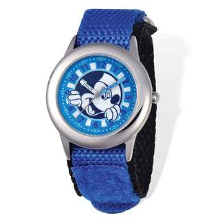 Disney Mickey Mouse Blue Hook and Loop Time Teacher Watch