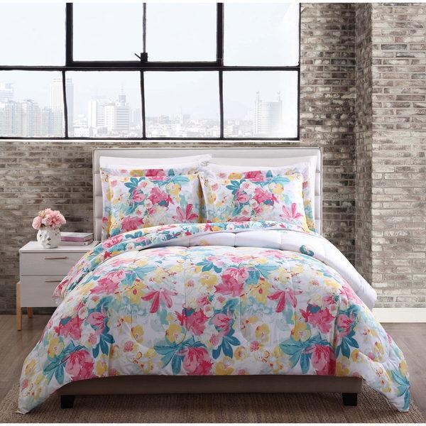 Style 212 Kimberly Floral Reversible Comforter Mini Set