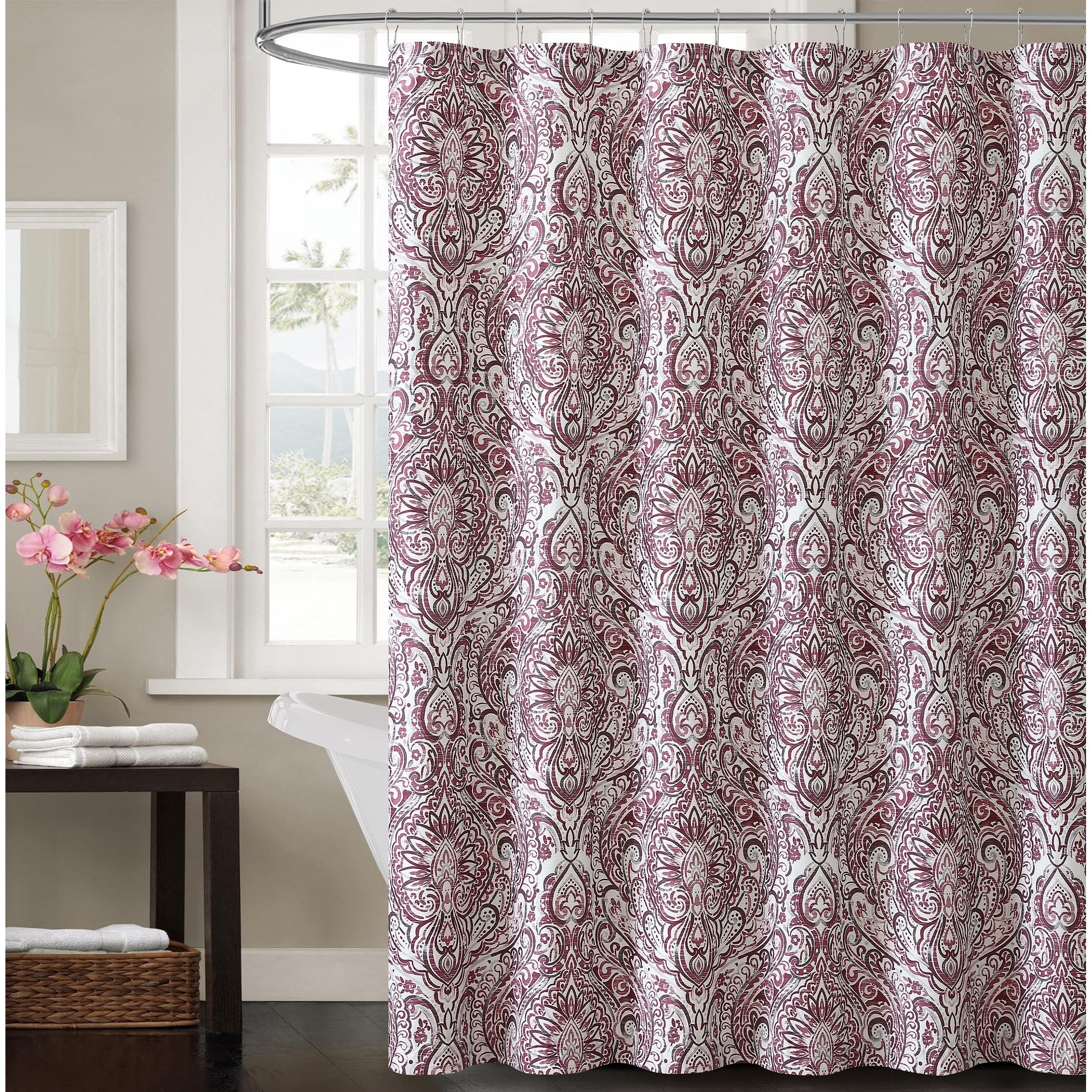 Vcny Home Elanza Shower Curtain (72x72 - Plum (Purple)) (...