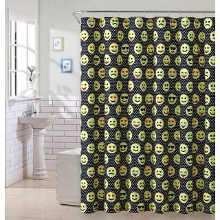 VCNY Home Emoji Face B Shower Curtain
