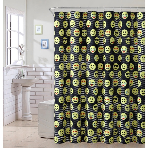 VCNY Home Emoji Face B Shower Curtain