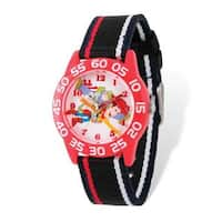 Disney Toy Story Buzz/Woody Acrylic Red Time Teacher Watch