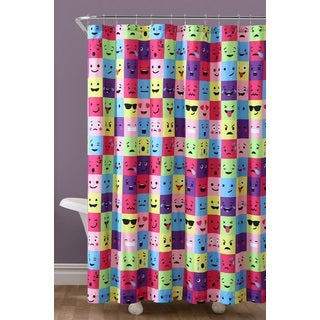 VCNY Home Square Emoji Shower Curtain