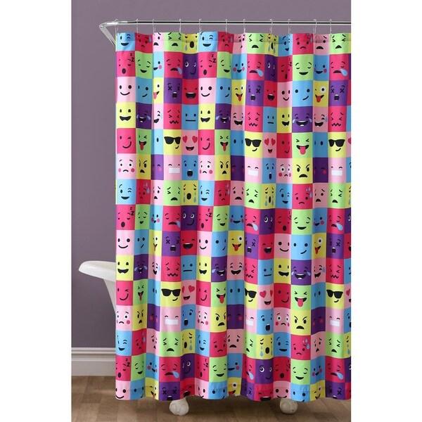 Shop VCNY Home Square Emoji Shower Curtain