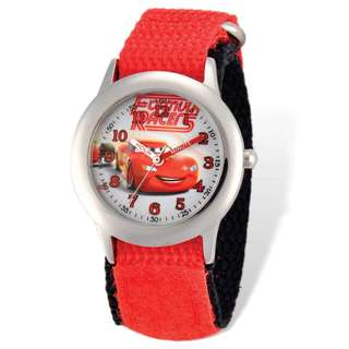 Disney Cars Lightning McQueen Red Hook and Loop Time Teacher Watch