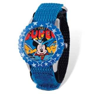 Disney Super Mickey Blue Hook and Loop Time Teacher Watch