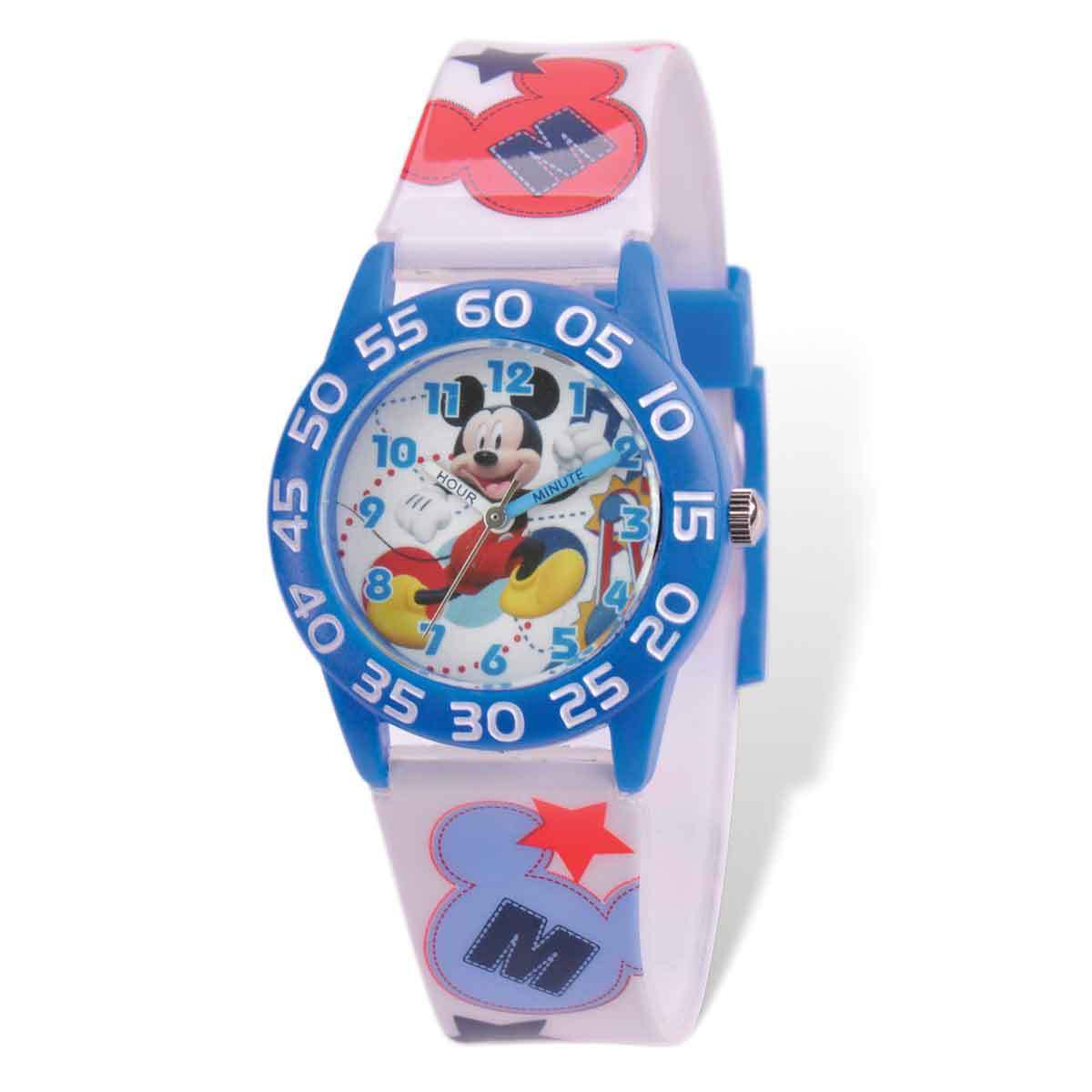 Disney Mickey Mouse Acrylic Case White Band Time Teacher ...