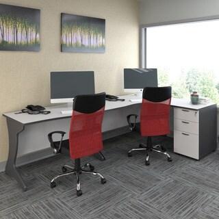 CorLiving Workspace 3-pc. Right-Facing Corner Desk Set
