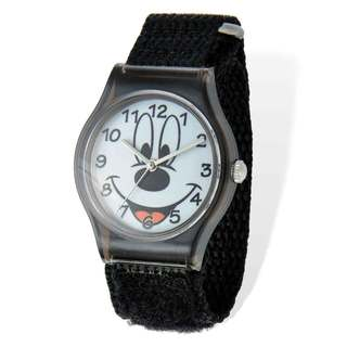 Disney Mickey Acrylic Case Black Hook and Loop Tween Watch