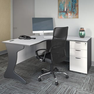 CorLiving Workspace 2pc Right Facing Corner Desk Set