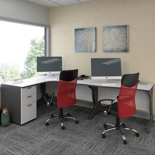 CorLiving Workspace 3pc Left Facing Corner Desk Set