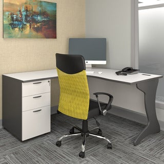 CorLiving Workspace 2pc Left Facing Corner Desk Set