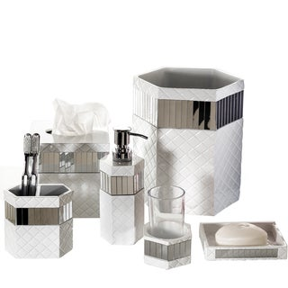 Quilted Mirror 6-piece Bath Accessory Set