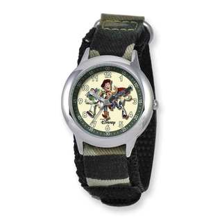 Disney Toy Story Kids Camo Hook and Loop Band Time Teacher Watch