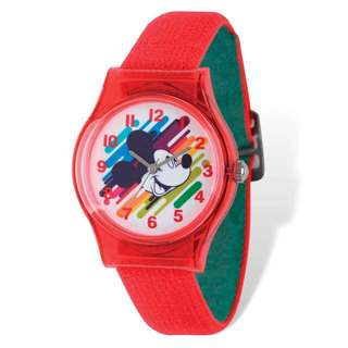 Disney Kids Mickey Mouse Acrylic Case Tween Watch