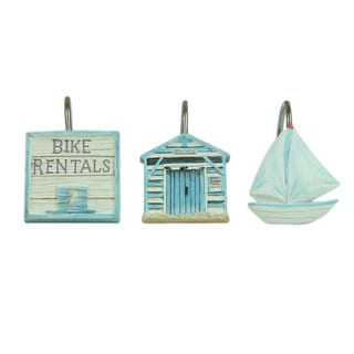 Beach Cruiser Shower Curtain Hooks