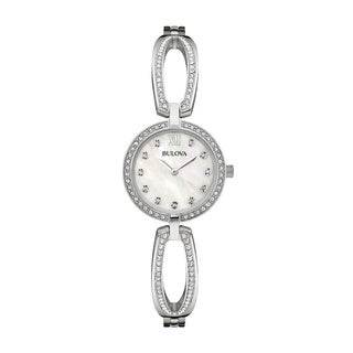 Bulova Women's 96L223 Silver Stainless-steel Water-resistant Watch|https://ak1.ostkcdn.com/images/products/13861948/P20502847.jpg?_ostk_perf_=percv&impolicy=medium