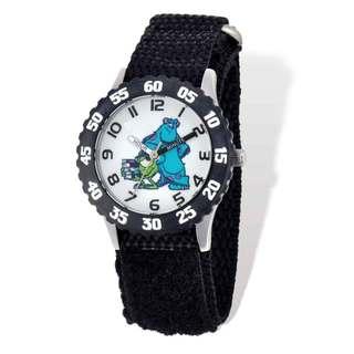 Disney Monsters U Mike/Sulley Black Hook and Loop Time Teacher Watch