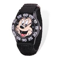 Disney Mickey Acrylic Case Black Hook and Loop Time Teacher Watch