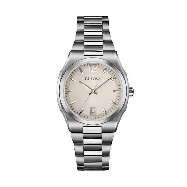 Bulova Women's 96M126 Silver Stainless Steel Water-resistant Calendar Date Watch