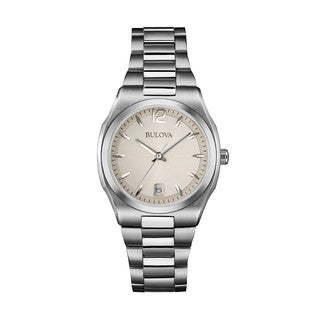 Bulova Women's 96M126 Silver Stainless Steel Water-resistant Calendar Date Watch