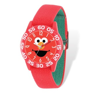 Sesame Street Kids Elmo Red Stretch Time Teacher Watch