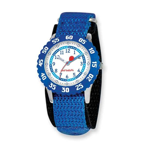 Red Balloon Kids Blue Hook and Loop Band Time Teacher Watch -  CHILD