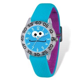 Sesame Street Kids Cookie Monster Blue Time Teacher Watch