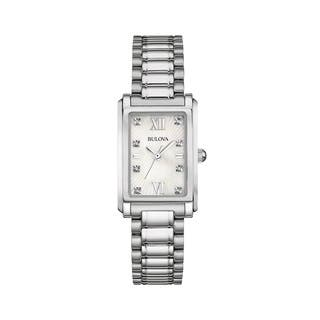 Bulova Women's 96P157 Silver Stainless Steel Water-resistant Watch|https://ak1.ostkcdn.com/images/products/13862068/P20502854.jpg?impolicy=medium